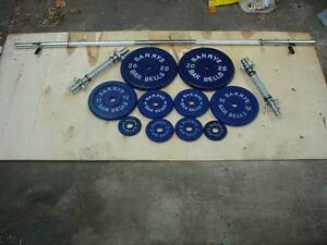Brand New Weight  Combo set . Straight Lifting Bar and Dumbells Holden Hill Tea Tree Gully Area Preview