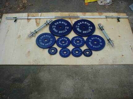 Brand New Weight  Combo set . Straight Lifting Bar and Dumbells