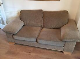Two x 2 seater sofas with storage in arm rest