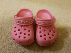 Pink Crocs size 4 to 5