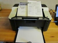 Brother Printer HL-1112. Black cartridge only. Gd print speeds, quality laser printer