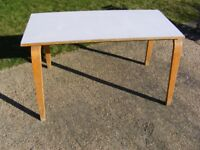 VINTAGE LOW / INFANTS / PLAY ROOM FORMICA TOP SCHOOL TABLE