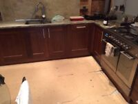 Used kitchen walnut doors & carcasses - 15 pieces