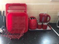 Red kitchen set