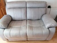 Suite 3 seater and 2 seater recliners grey micron fibre