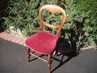 PRETTY VICTORIAN NURSING CHAIR