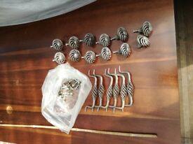 set of kitchen door knobs and handles