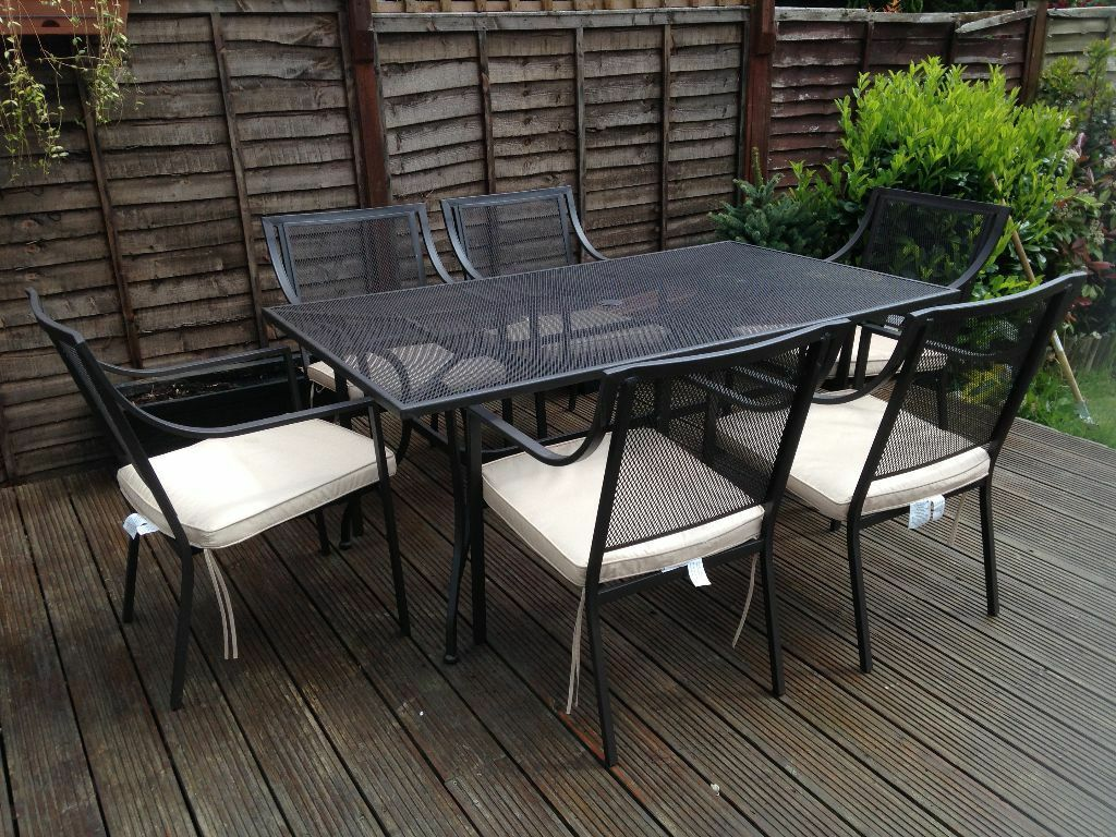 Homebase Rimini Table And Six Chairs With Pads Hardly Used