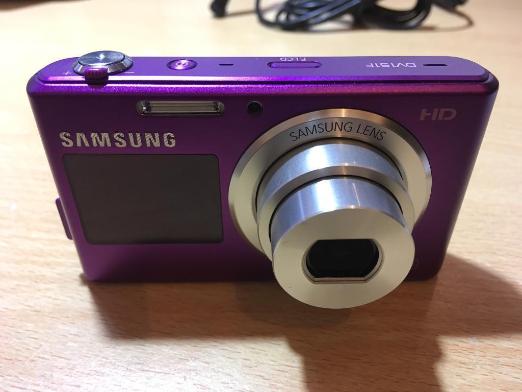 Samsung DV151F HD 16.2 mega pixel - selfie screen - Purple camera