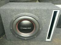 Massive bass spl competition subwoofer bassface monoblock amplifier power cap window shakin power