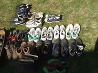 Trainers , walking boots, football boots