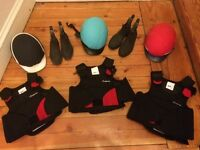 Horse Riding Equipment Kids (helmet, shoes, body protection)