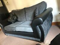 Black fabric sofa Great condition £300