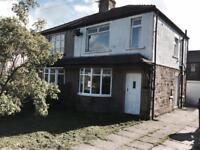 3 BEDROOM SEMI DETACHED HOUSE IN QUEENSBURY BRADFORD AVAILABLE NOW CALL LANDLORD DIRECT NOW!!
