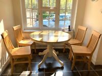John Lewis solid wood dining chairs x4
