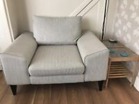 Arm chair. French connection Arm chair. Light Grey.