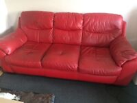 Used 3 seater leather settee