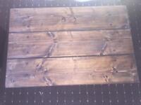 Handmade rustic solid walnut table.