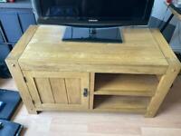 Oak Furniture Land Original Rustic Solid Oak TV unit