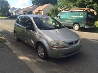 2005 Pontiac WAVE 5 1350$ TAX ET TRANSIT INCLUS 514-692-0093