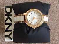 DKNY Ladies Ceramic Watch - Never Worn- new battery installed