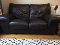 Lovely brown leather sofa REDUCED for quick sale!