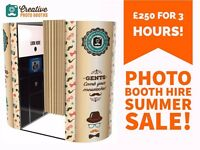 *PHOTO BOOTH HIRE SUMMER SALE £250 3Hours!!! West Midlands Staffordshire Birmingham Telford Cannock*