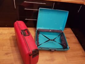 Two large suit cases