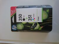 New Hp ink black 350 and colour 351