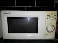 sharp microwave oven used