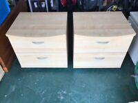 Pair of beside cabinets