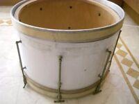 """Vintage bass drum - 20"""" diameter - Project - White wrap"""
