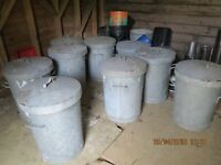 dustbins feedbins heavy galvanised metal