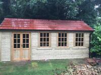 26x12 timberframed 4x2 tiled roof shed workshop summerhouse cabin office gym