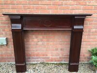. Mahogany Fireplace Surround in great condition looks like new £45 or nearest offer.