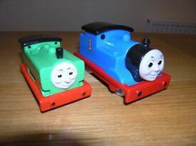 Blue No.1 Small Talking Thomas Engine, Green No. 8 Push Along
