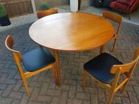 Retro Vintage teak folding table and chairs