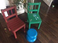 3 x kids toddler children's chairs ikea