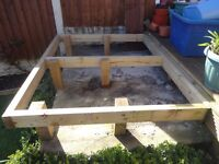 wooden base frame for garden shed