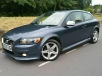 2009 59 VOLVO C30 R-DESIGN 1.6D DRIVE*FSH*1 LADY OWNER*LEATHER*EL-PACK*R.TAX-£30+CHEAP INS*#AUDI#BMW
