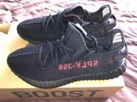 Yeezy 350 boost v2 Black/Red (UK size 11.5)