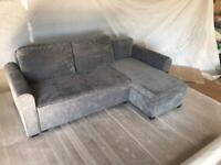 Corner sofa-bed ADIS in grey
