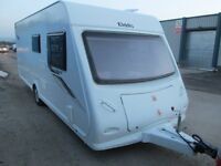 ELDDIS XPLORE 504 YEAR 2012 FOUR BERTH FIXED BED TOURING CARAVAN IN EXCELLENT CONDITION READY TO GO!