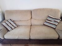Fabric 2 seater sofabed and 3 seater sofa.