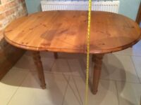 *IMMACULATE*SOLID PINE WOOD EXTENDING DINING KITCHEN TABLE 6 SEATER SHABBY CHIC STYLE