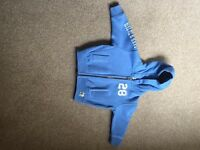 6-9 months Blue hooded zip up £5