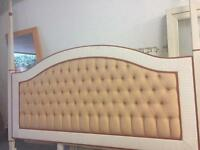 Upholster headboard for king-size bed.