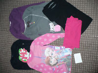 Bundle of 6 Long Sleeve and 3/4 Sleeve Tops for Girl 6-7 years. In good condition.
