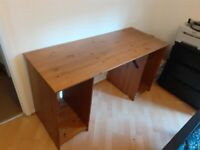 Wooden desk, 4 separate pieces for easy transport