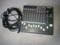 Mackie 14 channel mixer with 10m VanDamme cable
